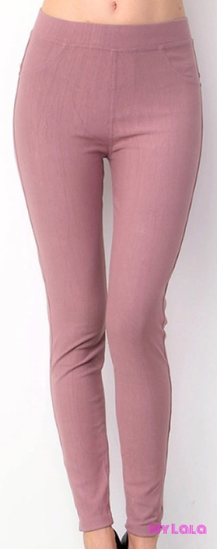 ONE SIZE JEGGINGS -  Size 3-12 (Mauve) - My Lala Leggings, soft leggings, buttery soft leggings, one size leggings