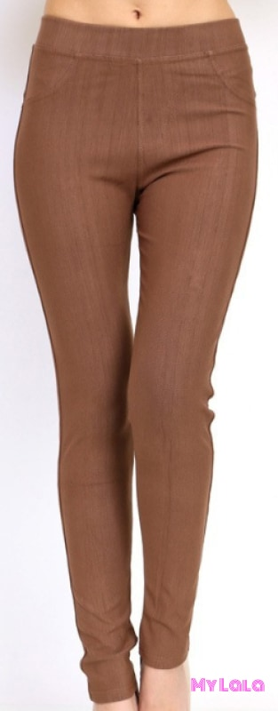 ONE SIZE JEGGINGS -  Size 3-12 (Mocha) - My Lala Leggings, soft leggings, buttery soft leggings, one size leggings