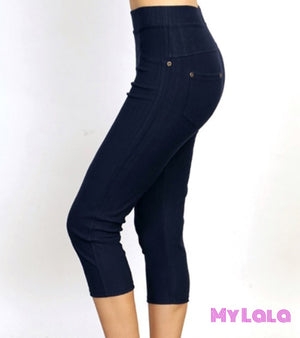 1 One Size Jeggings - Capri 3-12 (Black)