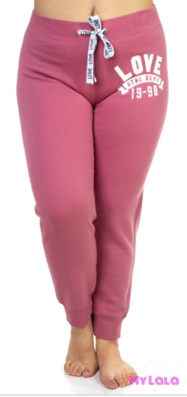 Curvy Love Sweatpants (Begonia Pink) - My Lala Leggings, soft leggings, buttery soft leggings, one size leggings