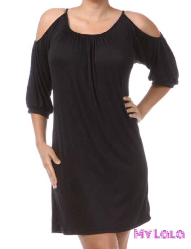 1 Pd 3113Bk Dress Curvy Ocean City Open Sleeve (Black)