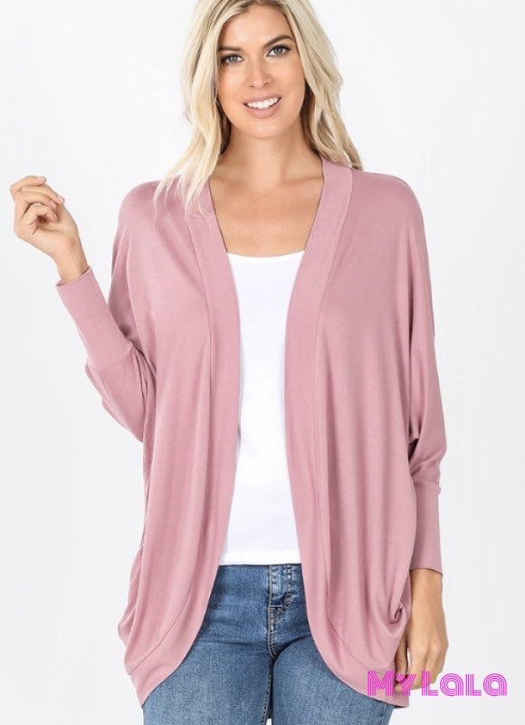 1 Rc 3184 Cocoon Wrap Cardigan (Lt Rose)