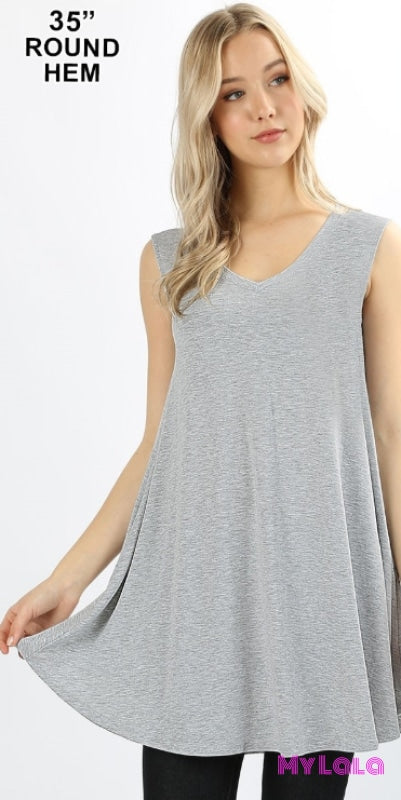 1 Rt 1604 Curvy Valery V Neck (H Grey)