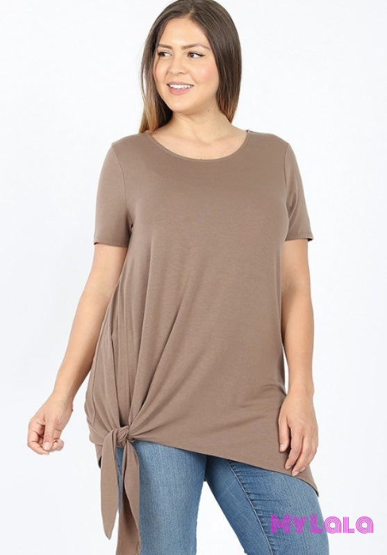 1 Rt 1856 Curvy Sally Side Tie (Mocha)