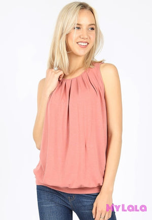 1 Rt 2011 Penny Pleated Top (Ash Rose)