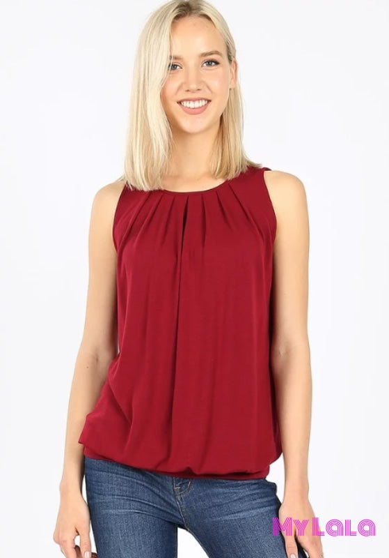 1 Rt 2011 Penny Pleated Top (Cabernet)