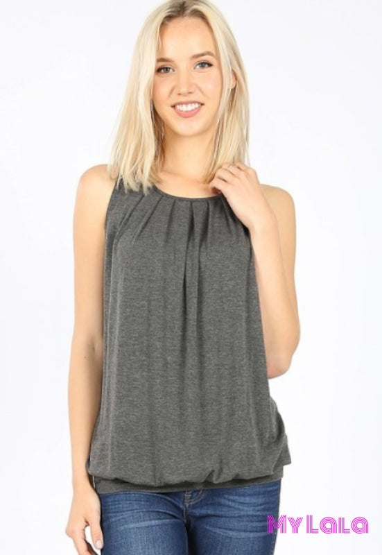 1 Rt 2011 Penny Pleated Top (Charcoal)