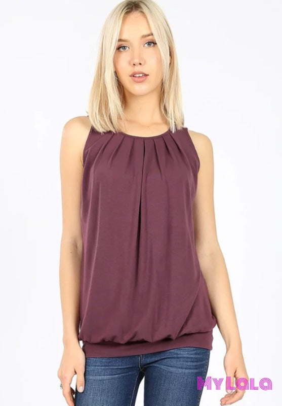 1 Rt 2011 Penny Pleated Top (Eggplant)
