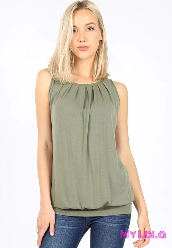 1 Rt 2011 Penny Pleated Top (Lt Olive)