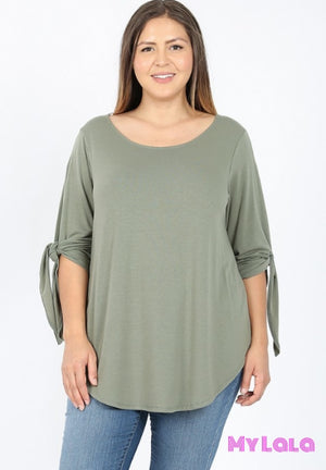1 Rt 2034 Curvy Split Sleeve Boat Neck (Mocha)