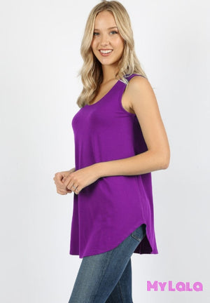 1 Rt 2100 Curvy Rachel Relaxed Tunic (Purple)