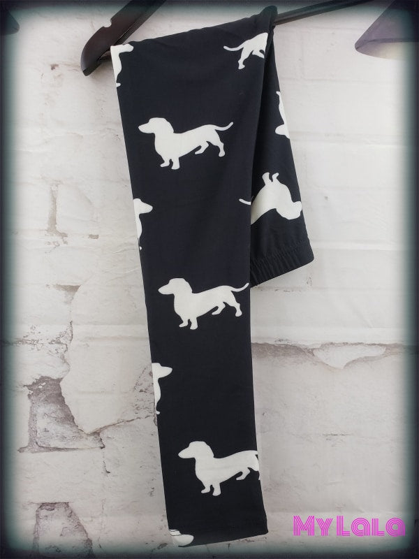Dachshund Kids - My Lala Leggings, soft leggings, buttery soft leggings, one size leggings
