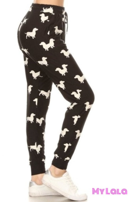 Jogger - Dachshund - My Lala Leggings, soft leggings, buttery soft leggings, one size leggings