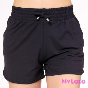 1 Solid Navy Shorts