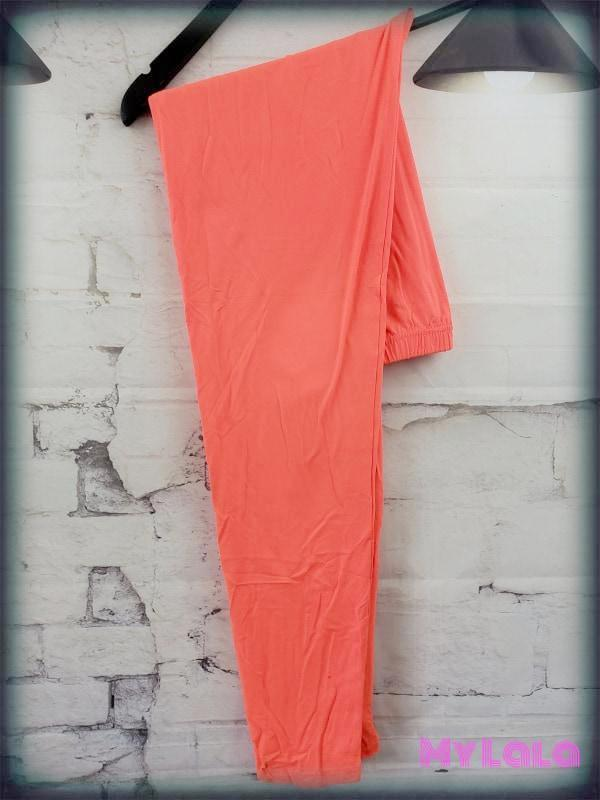 Solid Neon Orange OS - My Lala Leggings, soft leggings, buttery soft leggings, one size leggings