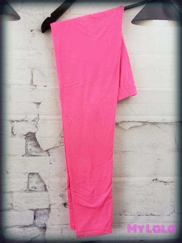 Solid Neon Pink OS - My Lala Leggings, soft leggings, buttery soft leggings, one size leggings