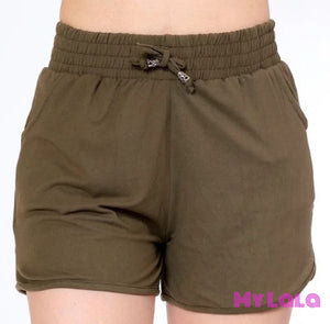 1 Solid Olive Shorts
