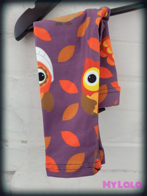 Thanksgiving Owl Baby (Premium) - My Lala Leggings, soft leggings, buttery soft leggings, one size leggings