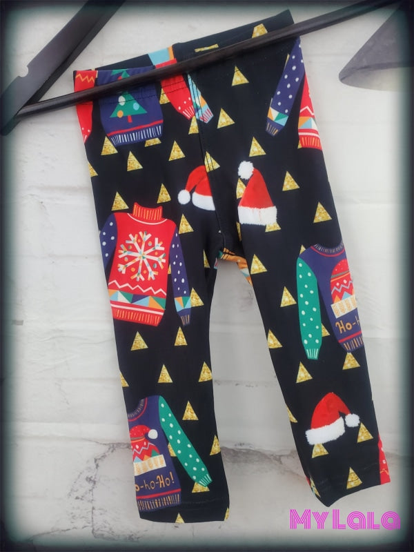 Ugly Christmas Sweater Baby (Premium) - My Lala Leggings, soft leggings, buttery soft leggings, one size leggings