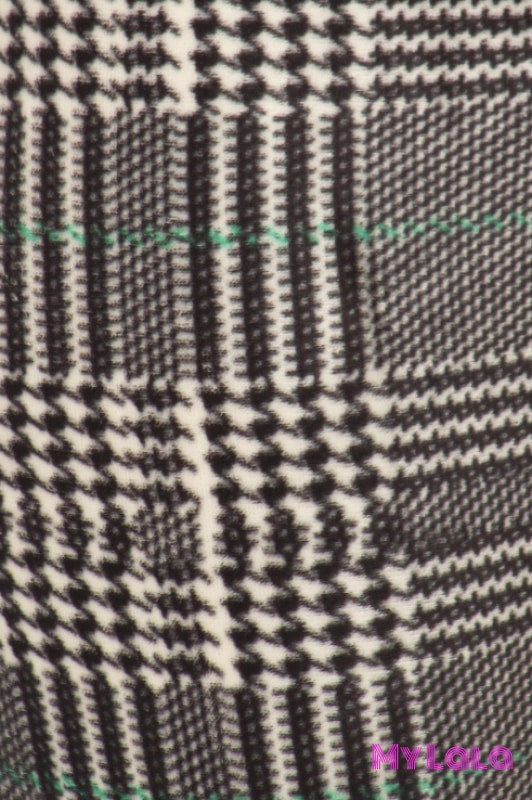 1 Velour - Curvy Houndstooth