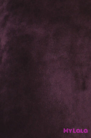 1 Velour - Solid Purple Os