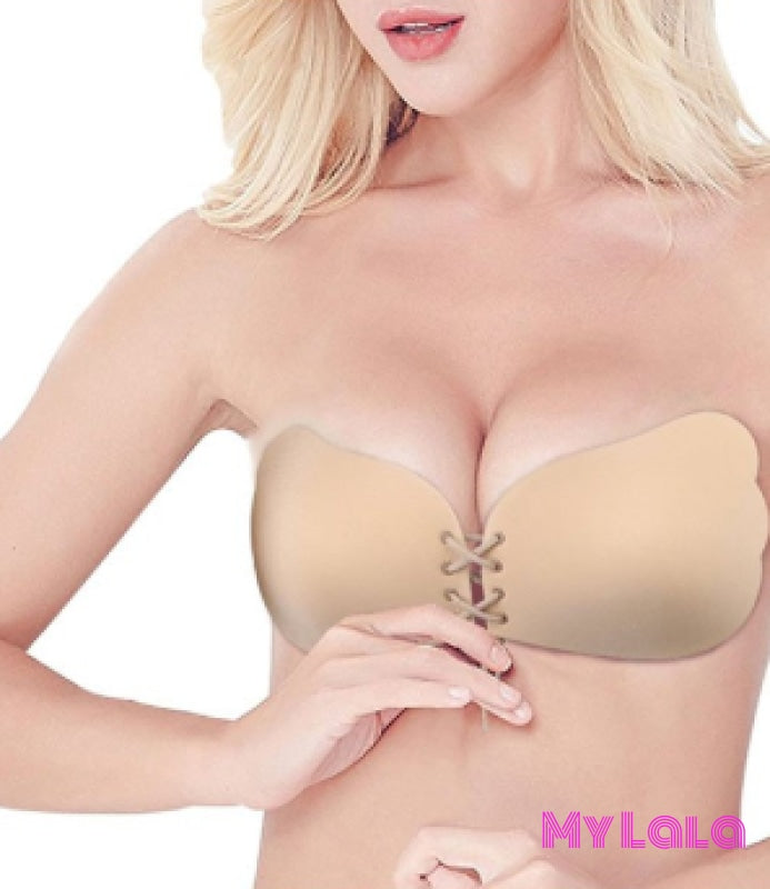 1 Yk2005 Push Up Strapless Silicone Bra (Nude)