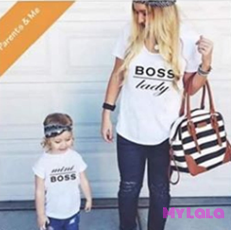 1 Ym Boss Lady Womens Tee boss mom boss lady boss matching mommy and me