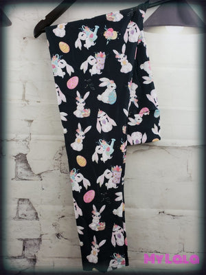 Yoga Band - Bunnies OS (Premium) - My Lala Leggings, soft leggings, buttery soft leggings, one size leggings