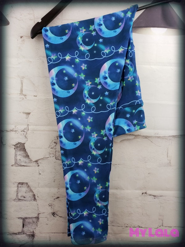 Yoga Band - Curvy Blue Moon (Premium) - My Lala Leggings, soft leggings, buttery soft leggings, one size leggings