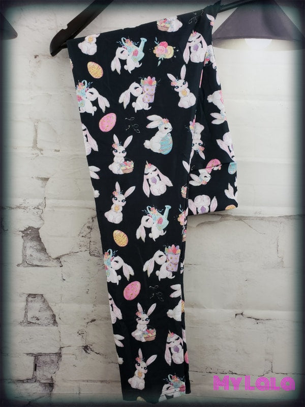 Yoga Band - Curvy Bunnies (Premium) - My Lala Leggings, soft leggings, buttery soft leggings, one size leggings