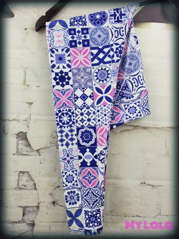 Yoga Band - Curvy Floral Quilt (Premium) - My Lala Leggings, soft leggings, buttery soft leggings, one size leggings