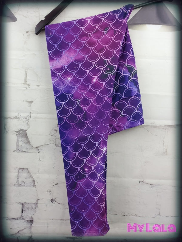 Yoga Band - Curvy Galaxy Mermaid (Premium) - My Lala Leggings, soft leggings, buttery soft leggings, one size leggings