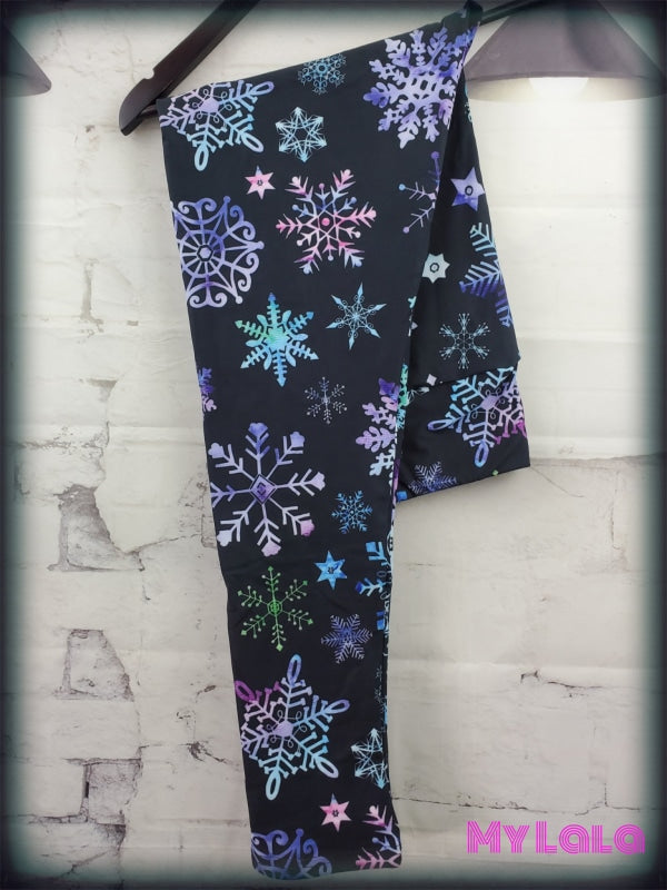 Yoga Band - Curvy Ombre Snowflake (Premium) - My Lala Leggings, soft leggings, buttery soft leggings, one size leggings