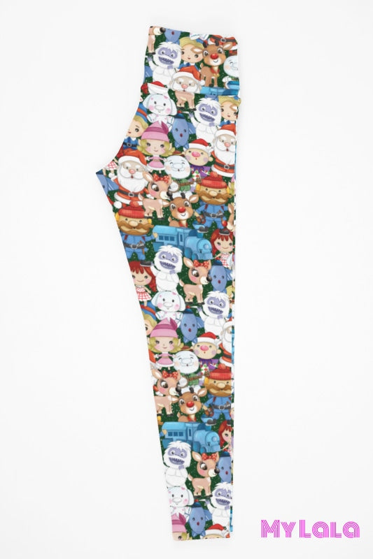 Yoga Band - Curvy Reindeer Misfits (Premium) - My Lala Leggings, soft leggings, buttery soft leggings, one size leggings