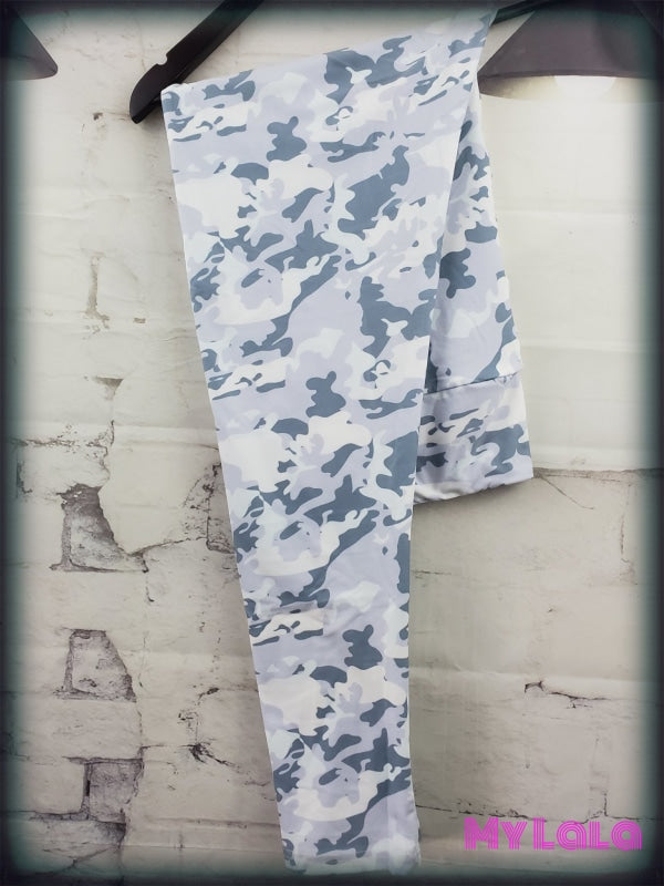 1 Yoga Band - Curvy Snow Camo (Premium) - My Lala Leggings, soft leggings, buttery soft leggings, one size leggings