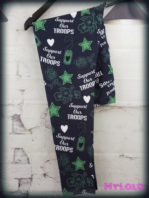 Yoga Band - Curvy Support our Troops (Premium) - My Lala Leggings, soft leggings, buttery soft leggings, one size leggings