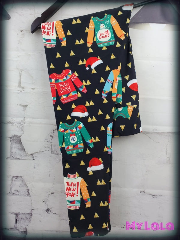 Yoga Band - Curvy Ugly Christmas Sweater (Premium) - My Lala Leggings, soft leggings, buttery soft leggings, one size leggings