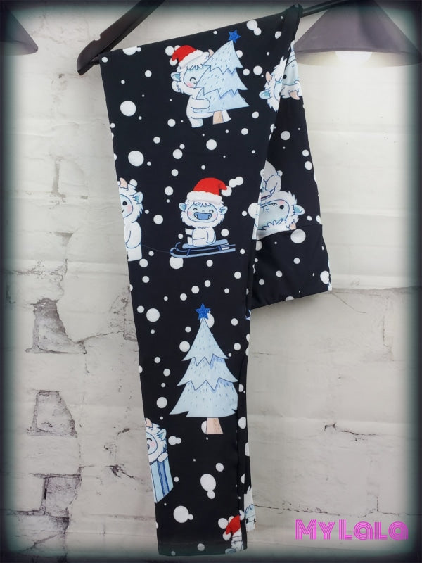 Yoga Band - Curvy Yeti Christmas (Premium) - My Lala Leggings, soft leggings, buttery soft leggings, one size leggings