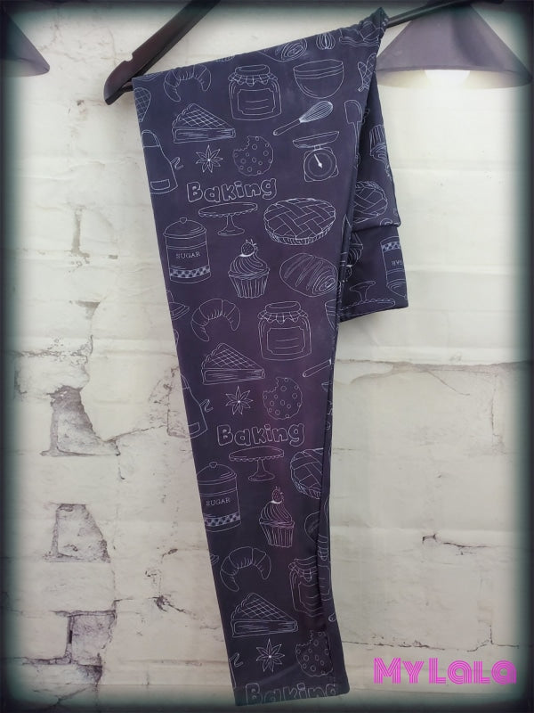 1 Yoga Band - Extra Curvy Baking Chalkboard 20-26 (Premium) - My Lala Leggings, soft leggings, buttery soft leggings, one size leggings