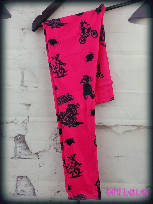 Yoga Band - Hot Pink Dirt Bike Kids (Premium) - My Lala Leggings, soft leggings, buttery soft leggings, one size leggings