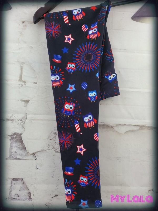 Yoga Band - Owl Patriot Kids (Premium) - My Lala Leggings, soft leggings, buttery soft leggings, one size leggings