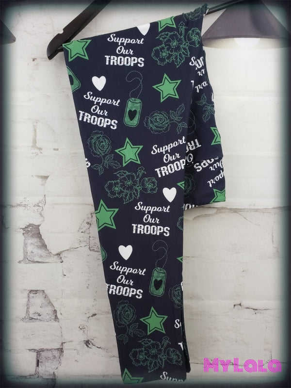 Yoga Band - Support our Troops OS (Premium) - My Lala Leggings, soft leggings, buttery soft leggings, one size leggings