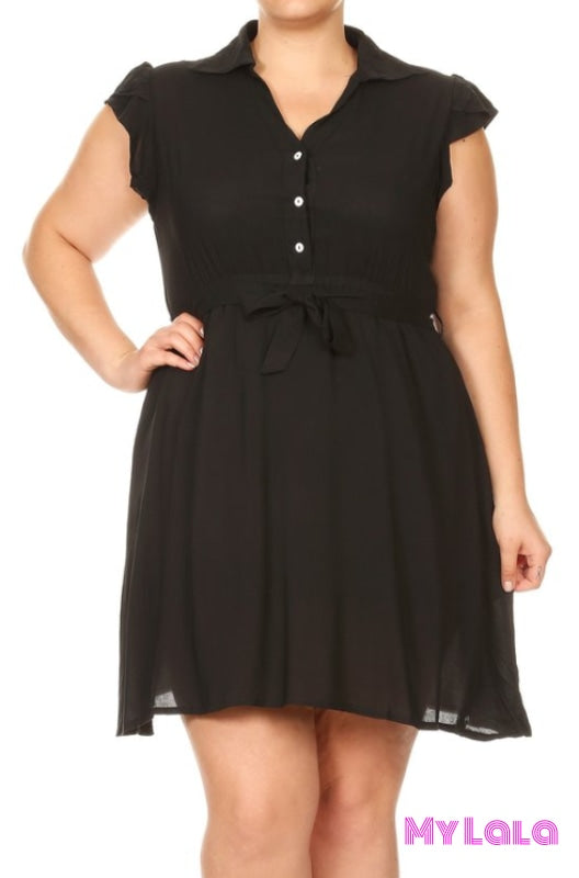 1 Zd2241 - 4C28 Dress Button Down (Black)