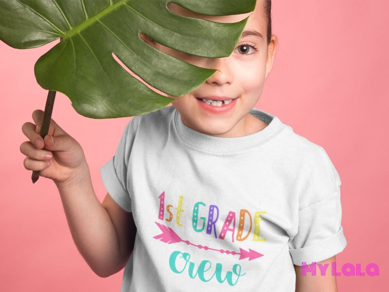 1St Grade Crew Kids Tee Clothes