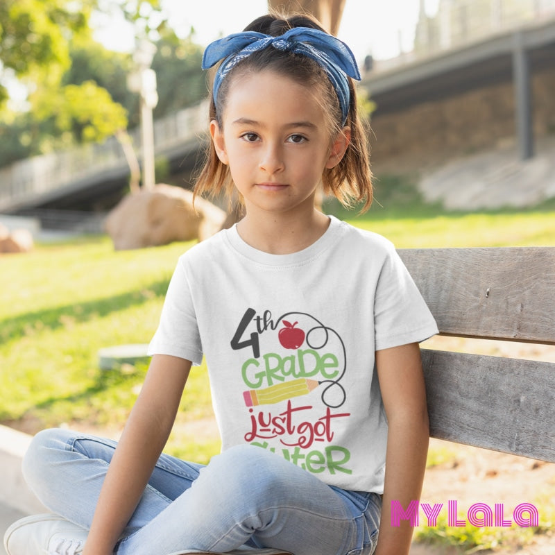 4th Grade Just Got Cuter KIDS Tee - My Lala Leggings, soft leggings, buttery soft leggings, one size leggings