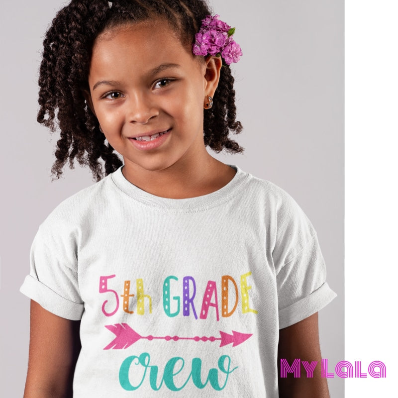 5th Grade CREW KIDS Tee - My Lala Leggings, soft leggings, buttery soft leggings, one size leggings