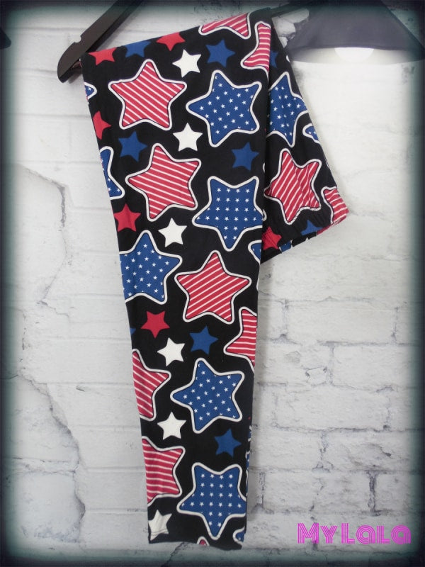 Extra Curvy Star Spangled (20-26) - My Lala Leggings, soft leggings, buttery soft leggings, one size leggings