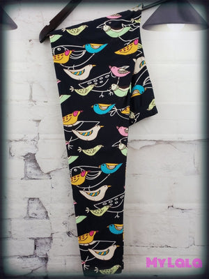 Birds OS - My Lala Leggings, soft leggings, buttery soft leggings, one size leggings