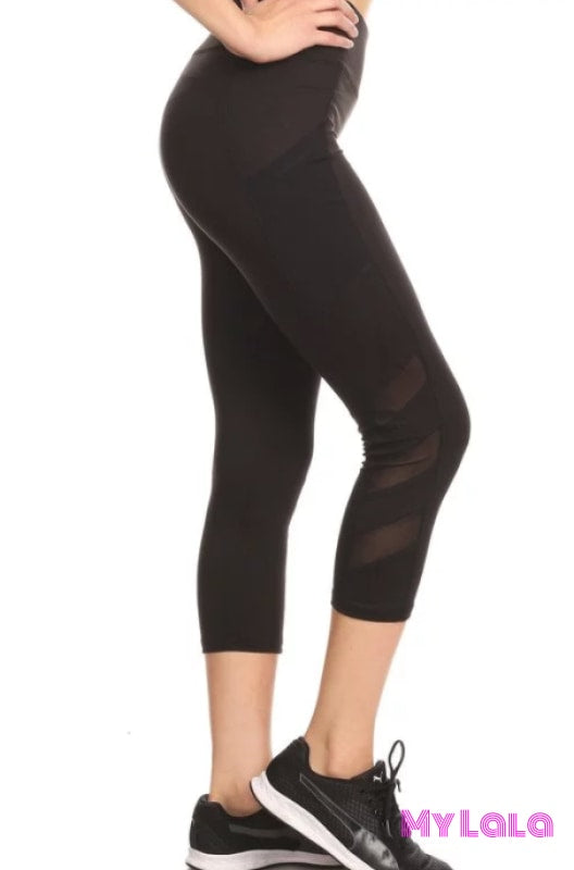 Black Swirl Active Wear