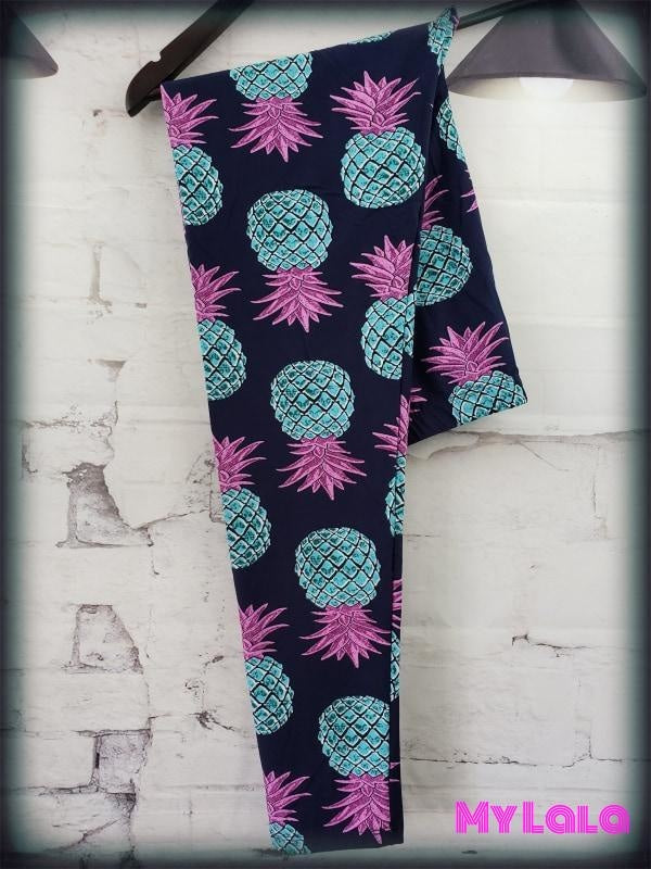 Blue Pineapple OS - My Lala Leggings, soft leggings, buttery soft leggings, one size leggings